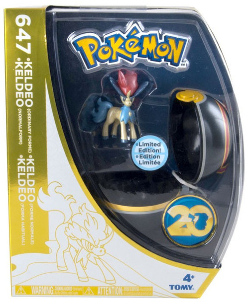 Pokemon 20th Anniversary Clip n Carry Pokeball Keldeo with Luxury Ball Figure Set [20th Anniversary]