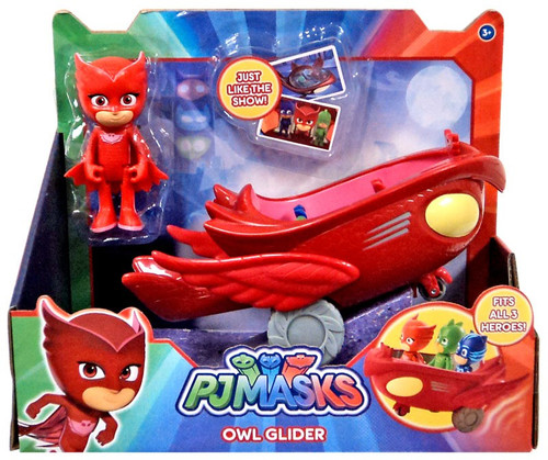 Disney Junior PJ Masks Owl Glider Vehicle & Figure [with Owlette]