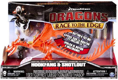 How to Train Your Dragon Race to the Edge Hookfang & Snotlout Action Figure 2-Pack [Armored Dragon]