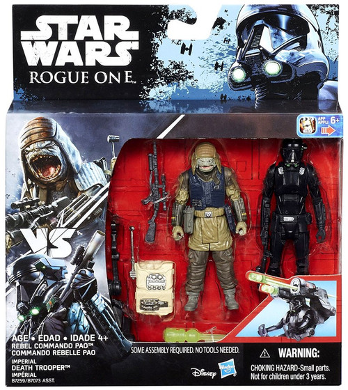 Star Wars Rogue One Rebel Cammando Pao & Imperial Death Trooper Action Figure 2-Pack