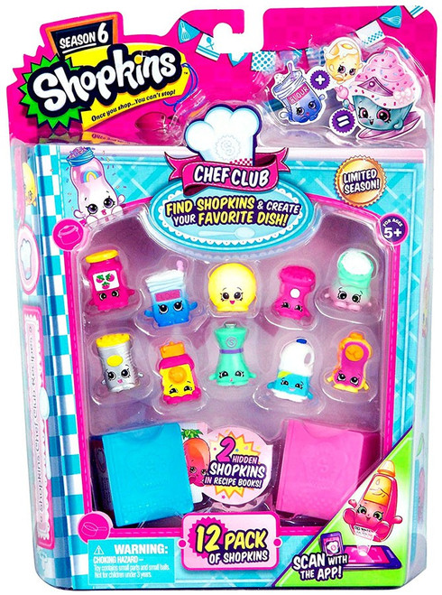 Shopkins Chef Club Season 6 Mini Figure 12-Pack