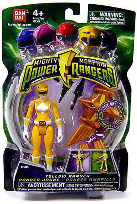 Power Rangers Mighty Morphin 2009 Yellow Ranger Action Figure