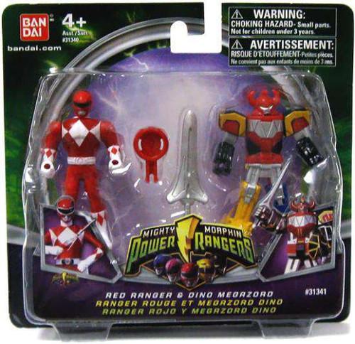 Power Rangers Mighty Morphin 2009 Red Ranger & Dino Megazord Action Figure 2-Pack