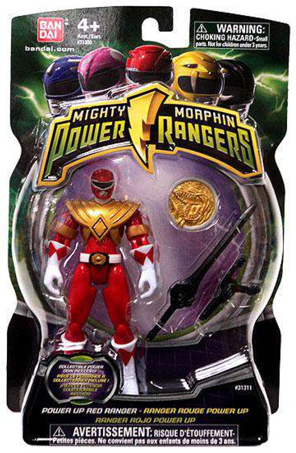 Power Rangers Mighty Morphin 2010 Power Up Red Ranger Action Figure
