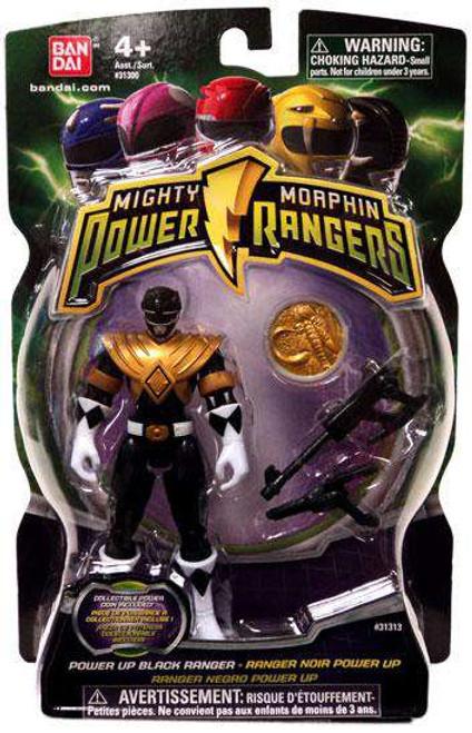 Power Rangers Mighty Morphin 2010 Power Up Black Ranger Action Figure