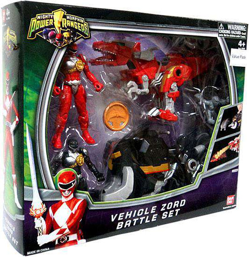 Power Rangers Mighty Morphin Vehicle Zord Battle Set Action Figure 2-Pack