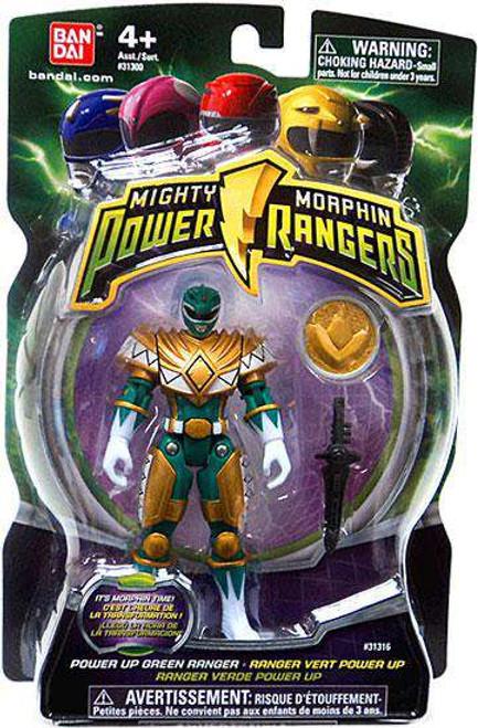 Power Rangers Mighty Morphin 2010 Power Up Green Ranger Action Figure