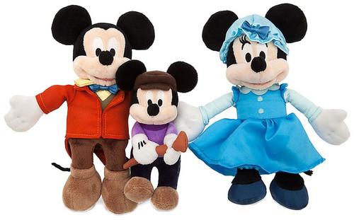 Disney 2016 Holiday Mickey's Christmas Carol Exclusive 8-Inch Plush 3-Pack Set [Mickey, Minnie & Tiny Tim]