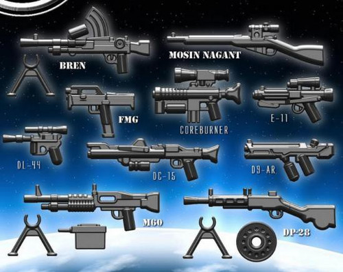 BrickArms Spring 2013 2.5-Inch Weapons Pack