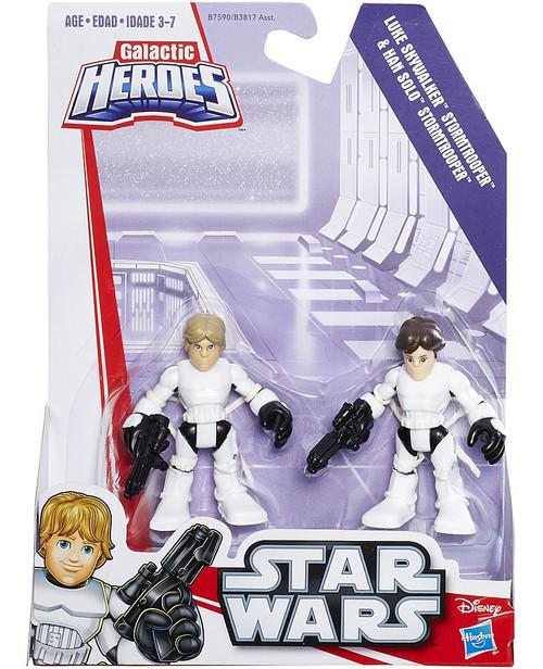 Star Wars Galactic Heroes Luke Skywalker & Han Solo Stormtrooper Outfits Mini Figure 2-Pack