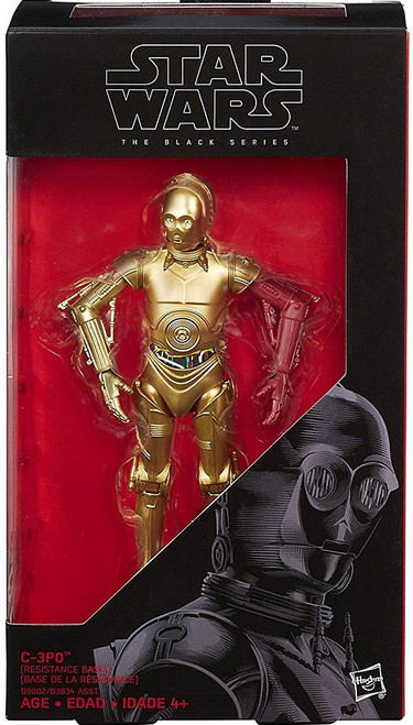Star Wars The Force Awakens Black Series C-3PO (Resistance Base) Action Figure [1 Red Arm]