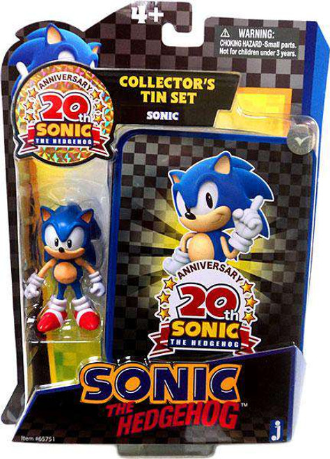 Sonic The Hedgehog 20th Anniversary Sonic Action Figure [Collector's Tin Set, Damaged Package]