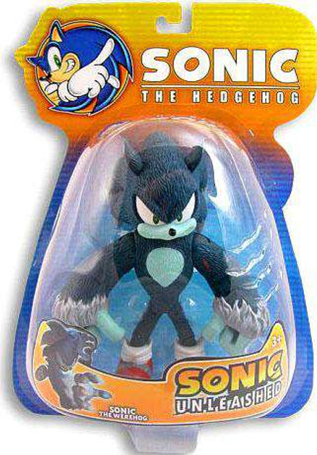 Sonic The Hedgehog Sonic Unleashed Sonic Exclusive Action Figure [Werehog, Damaged Package]