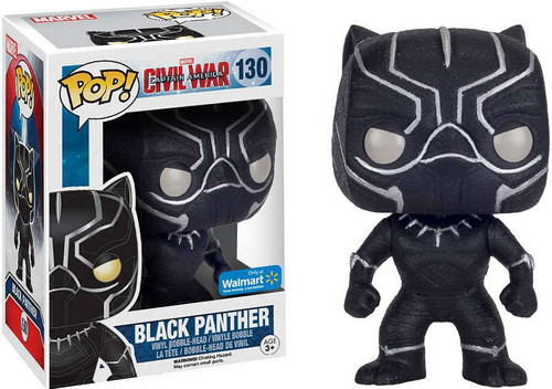 Funko Civil War POP! Marvel Black Panther Exclusive Vinyl Bobble Head #130 [Glitter, Damaged Package]