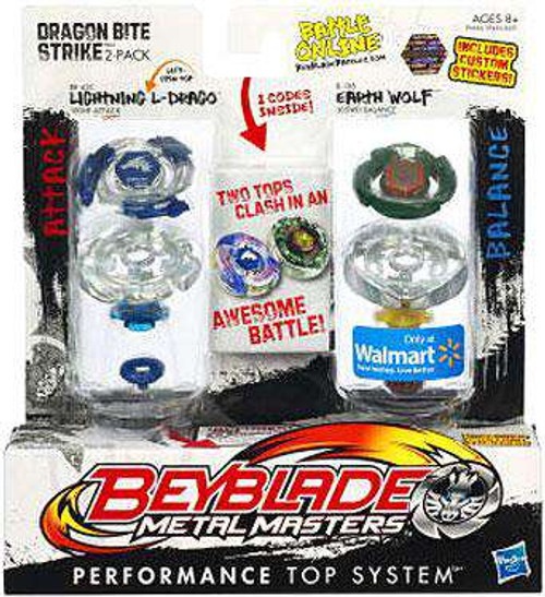 Beyblade Metal Masters Dragon Bite Strike Exclusive 2-Pack BB43C [Damaged Package]