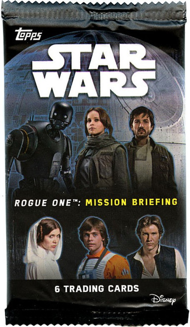 Star Wars Rogue One Mission Briefing Trading Card RETAIL Pack [6 Cards]
