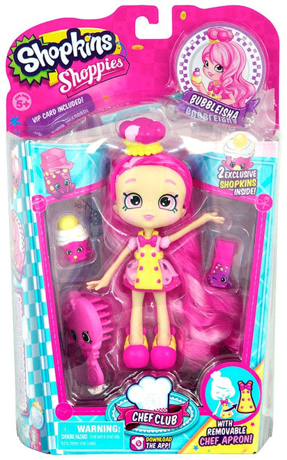 Shopkins Shoppies Chef Club Bubbleisha Doll Figure