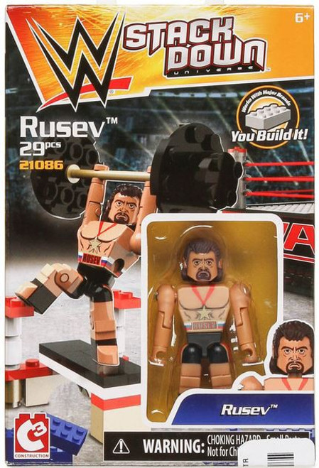 WWE Wrestling C3 Construction StackDown Rusev Playset #21086