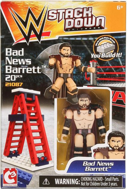 WWE Wrestling C3 Construction StackDown Bad News Barrett Playset #21087