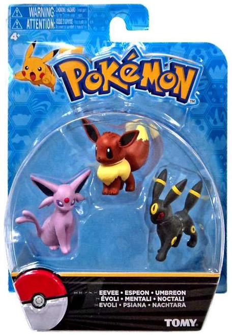 Pokemon Eevee, Espeon & Umbreon 2-Inch Mini Figure 3-Pack