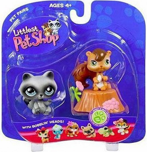 Littlest Pet Shop Pet Pairs Chip Munk & Raccoon Figure 2-Pack