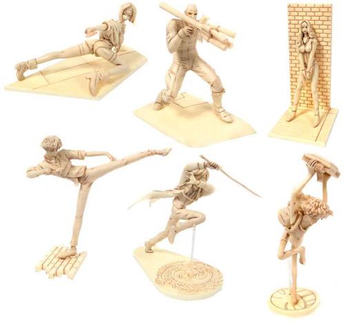 Cowboy Bebop Story Image Figure Set of 6 Unpainted PVC Figures
