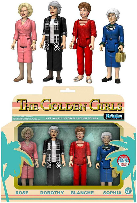 Funko Golden Girls ReAction Rose, Dorothy, Blanche & Sophia Exclusive Action Figure 4-Pack