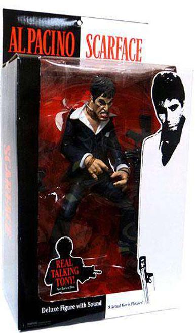 Scarface Tony Montana Action Figure [Talking, Black Suit, Damaged Package]