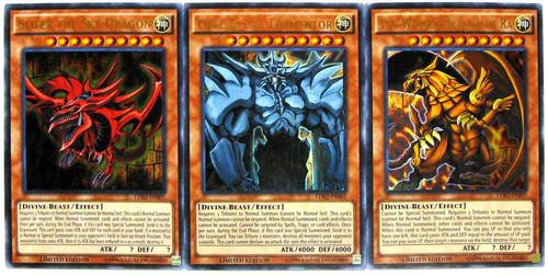 YuGiOh Legendary Decks II Ultra Rare Yugi's God Card Set LDK2-ENS01, LDK2-ENS02 & LDK2-ENS03 [Slifer, Obelisk & Ra]