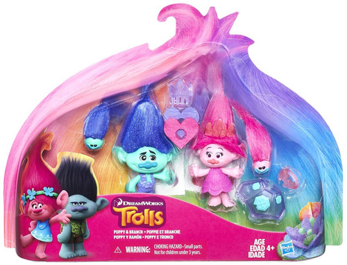 Trolls Poppy & Branch Exclusive Action Figure