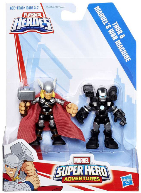 Marvel Playskool Heroes Super Hero Adventures Thor & War Machine Action Figure 2-Pack