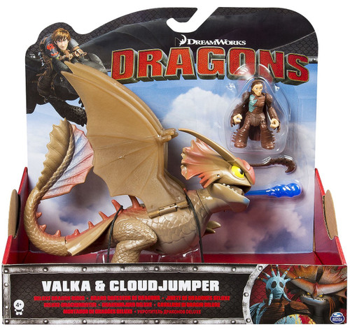 How to Train Your Dragon Deluxe Dragon Rider Valka & Cloudjumper Exclusive Action Figure 2-Pack [Mask OFF]