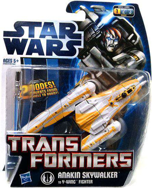 Star Wars Revenge of the Sith Transformers 2012 Anakin Skywalker To Y-Wing Fighter Action Figure