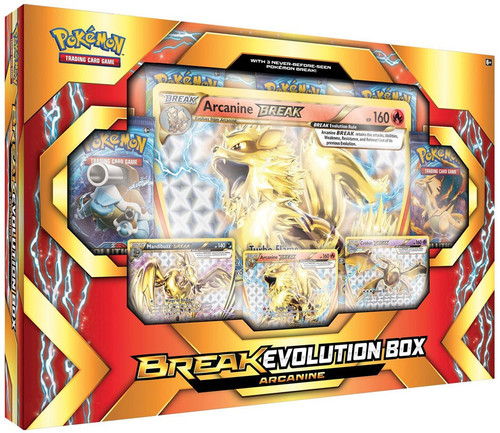 Pokemon Trading Card Game XY Arcanine (with Crobay & Mandibuzz) BREAK Evolution Box [5 Booster Packs, 3 Promo Cards & Oversize Card!]
