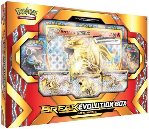 Pokemon Trading Card Game XY Arcanine (with Crobay & Mandibuzz) BREAK Evolution Box [5 Booster Packs, 3 Promo Cards & Oversize Card!]