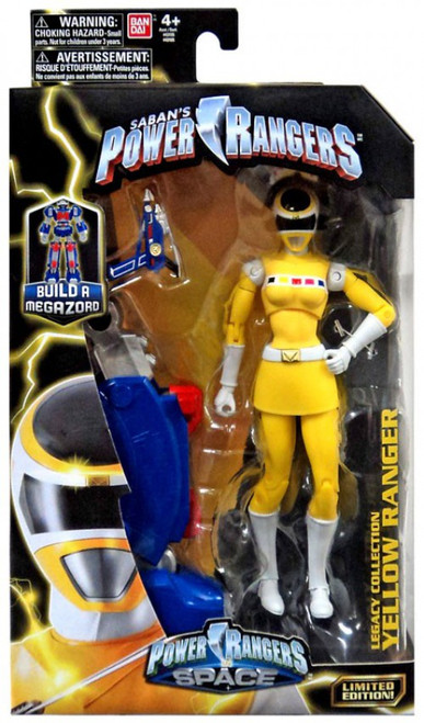 Power Rangers In Space Legacy Build A Megazord Yellow Ranger Action Figure [PRIS]