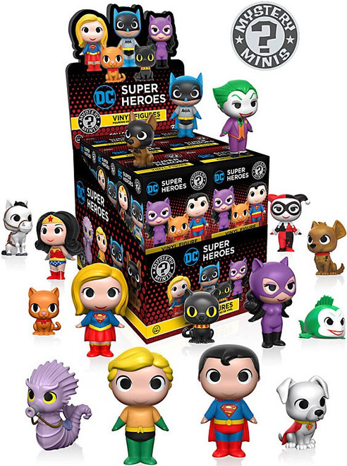 Funko Mystery Minis DC Super Heroes & Pets Mystery Box [12 Packs]