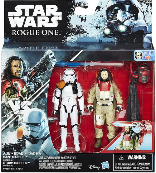 Star Wars Rogue One Baze Malbus & Imperial Stormtrooper Action Figure 2-Pack
