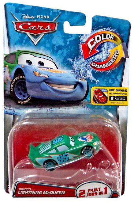 Disney / Pixar Cars Color Changers Dinoco Lightning McQueen Diecast Car [2016]