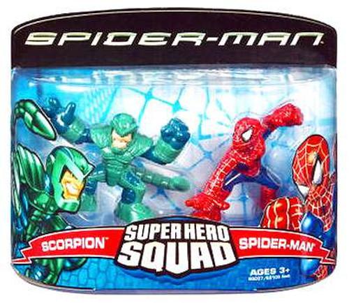 Spider-Man Movie Super Hero Squad Scorpion & Spider-Man Action Figure