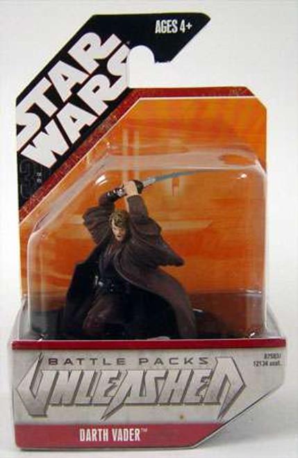 Star Wars Saga '07 Unleashed Darth Vader 2-Inch Figure [Anakin Skywalker]