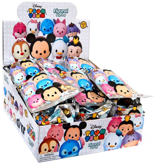 Disney 3D Figural Keyring Tsum Tsum Series 2 Mystery Box [24 Packs]
