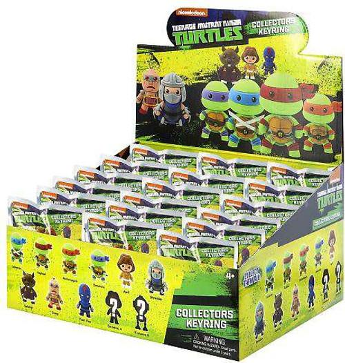 Teenage Mutant Ninja Turtles 3D Figural Keyring TMNT Series 1 Mystery Box [24 Packs]
