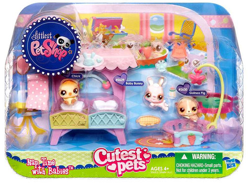 Littlest Pet Shop Cutest Pets Nap Time with Babies Playset