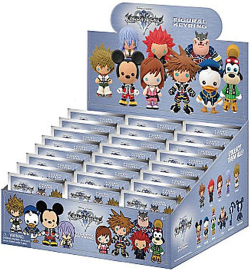 Disney 3D Figural Keyring Kingdom Hearts Series 1 Mystery Box [24 Packs]