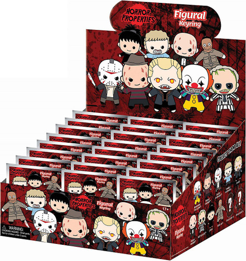 3D Figural Keyring Horror Series 1 Mystery Box [24 Packs]
