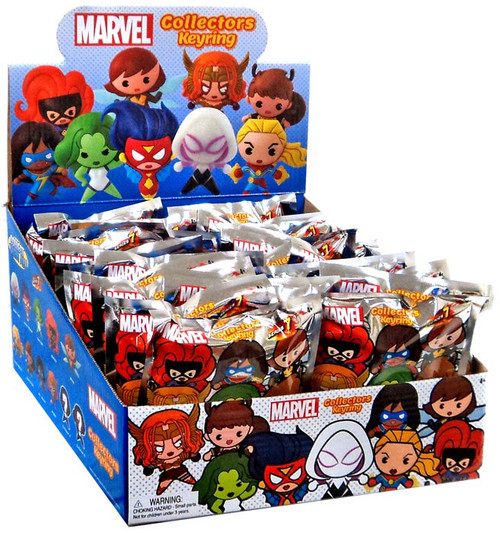 3D Figural Keyring Marvel Series 7 Mystery Box [24 Packs]