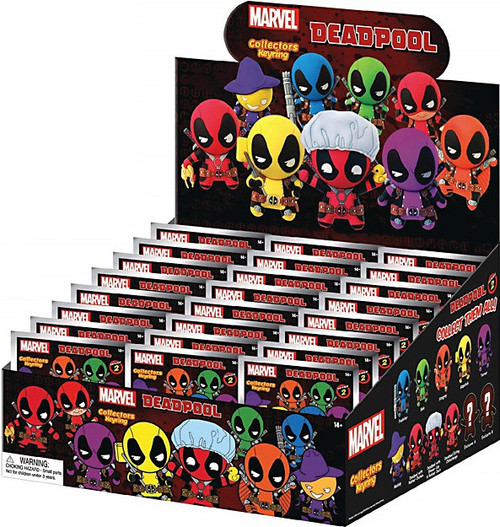 Marvel 3D Figural Keyring Deadpool Series 2 Mystery Box [24 Packs]