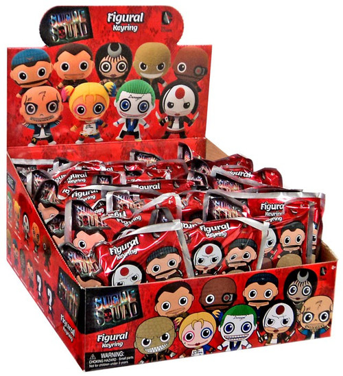 3D Figural Keyring Suicide Squad Mystery Box [24 Packs]
