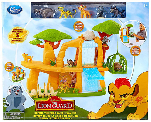 Disney The Lion Guard Defend the Pride Lands Exclusive Playset [Includes Kion, Bunga, Beshte, Fuli & Janja]